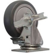 "Snap-Loc™ Caster for Snap-Loc Dolly SLAC4SB -  Swivel Brake 4"" Casters"