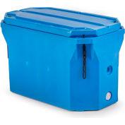 """Bonar Plastics Polar Insulated Box Flat Bottom PB1801 with Lid - 750 Lb Cap. 43""""L x 24""""W x 28""""H Blue"""