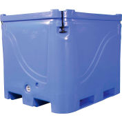 "Bonar Plastics Polar Insulated Box PB760 with Lid - 1700 Lb. Capacity 48""L x 43""W x 38""H Blue"
