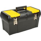 "Stanley 019151M 19"" Series 2000 Tool Box W/ 2/3 Tote Tray & Lid Organizers"
