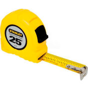 """Stanley 30-454 1"""" x 25' Fractional High-Vis High Impact ABS Case Tape Rule"""
