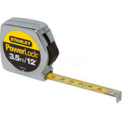 "Stanley 33-215 PowerLock® Tape Rule with Metal Case 1/2"" x 3.5M/12'"