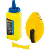 Stanley 47-443 Chalk Line Reel With 4 Oz. Blue Chalk & Plastic Line Level