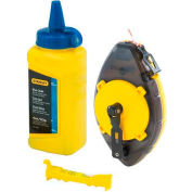 Stanley 47-464 Powerwinder™ Chalk Line Reel, Blue Chalk, Line Level