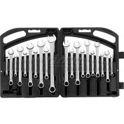 Stanley 85-783 20 Piece Satin Finish Fractional & Metric Combination Wrench Set, 12 Point
