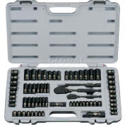 Stanley 92-824 69 PC. SAE/Metric Laser Etched Black Chrome Socket Set