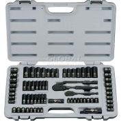 Stanley 92-824 69 PC. SAE/Metric Laser Etched Black Chrome Socket Set