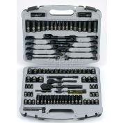 "Stanley 92-839 99 PC. 1/4"" & 1/2"" SAE/Metric Black Chrome Laser Etched Socket Set"