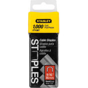 """Stanley CT109T Round Crown Cable Staples 9/16"""", 1,000 Pack - Pkg Qty 4"""