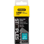 "Stanley CT306T Heavy-Duty Flat Narrow Crown Staples 3/8"", 1,000 Pack - Pkg Qty 5"