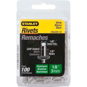"Stanley® PAA42W-1B, Aluminum Rivets White 1/8"" x 1/8"", 100 Pack - Pkg Qty 5"
