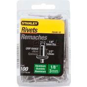 "Stanley PAA48-1B Aluminum Rivets 1/8"" x 1/2"", 100 Pack - Pkg Qty 5"