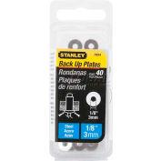 """Stanley PBS4 Steel Rivet Back Up Plates 1/8"""", 40 Pack - Pkg Qty 10"""