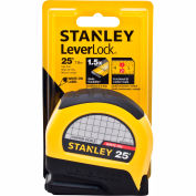 "Stanley®  Leverlock® STHT30758L Center Read Tape Rule 1"" X 25' Tape Measure"