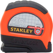 "Stanley®  Leverlock® STHT33270 Fractional Tape Rule 1"" X 25' W/ Magnetic Tip Tape Measure"