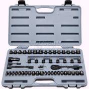 """Stanley STMT71649 1/4"""" & 3/8"""" Drive 50 Piece Black Chrome Socket Set"""