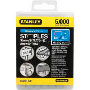 "Stanley TRA704-5C Heavy-Duty Narrow Crown Staples 1/4"", 5,000 Pack"