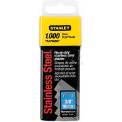 "Stanley TRA704SST Heavy-Duty S/S Narrow Crown Staples 1/4"", 1,000 Pack"