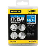 "Stanley® TRA705-5C, Heavy-Duty Narrow Crown Staples 5/16"", 5,000 Pack - Pkg Qty 8"
