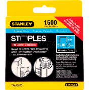 """Stanley TRA705TCS Heavy-Duty Narrow Crown Staples 5/16"""", 1,500 Pack - Pkg Qty 5"""