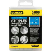 """Stanley TRA706-5C Heavy-Duty Narrow Crown Staples 3/8"""", 5,000 Pack"""