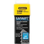 "Stanley® TRA706MT, Heavy-Duty Monel Narrow Crown Staples 3/8"", 1,000 Pack - Pkg Qty 5"