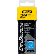 """Stanley TRA706T Heavy-Duty Narrow Crown Staples 3/8"""", 1,000 Pack"""