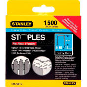 "Stanley TRA709TCS Heavy-Duty Narrow Crown Staples 9/16""- 1,500 Pack - Pkg Qty 5"
