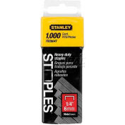 "Stanley TRC604T Heavy-Duty Wide Crown Staples 1/4"", 1,000 Pack"
