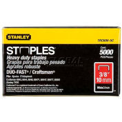 "Stanley® TRC606-5C, Heavy-Duty Wide Crown Staples 3/8"", 5,000 Pack - Pkg Qty 12"