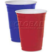 Solo Plastic Party Cold Cups, Polystyrene,16 Oz., 50/Pack, Red