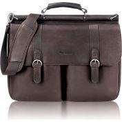 """Solo® Laptop Portfolio, D5353, For 16"""" Notebook, 16-1/2""""W X 5""""D X 13""""H, Leather, Espresso"""