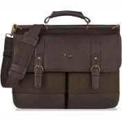 "SOLO® Bradford Briefcase w/ Buckle, 15.6"", 16-1/4 X 5 X 12, Espresso"