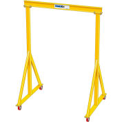 "1 Ton, Spanco, Portable, Steel Gantry Crane, 11'-6"" Span,  Adjustable Height 6'-4"" min. 10'-6"" max."