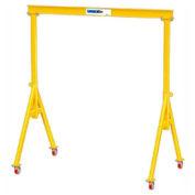 "2 Ton, Spanco, Portable, Steel Gantry Crane, 15' Span,  Adjustable Height 12'-10"" min. 16'-4"" max."