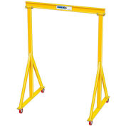 "2 Ton, Spanco, Portable, Steel Gantry Crane, 11'-6"" Span,  Adjustable Height 8'-8"" min. 14'-10"" max."