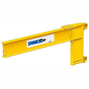 1 Ton Capacity, 12' span, Spanco 300 Series, Steel, Wall Mounted Jib Crane, Cantilever Design