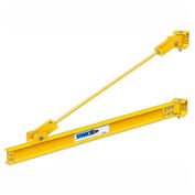 1/2 Ton, 12' span, Spanco 301 Series, Steel, Wall Mounted, Wall Bracket, Jib Crane, Tie Rod Design