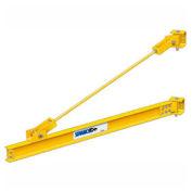 1/2 Ton, 20' span, Spanco 301 Series, Steel, Wall Mounted, Wall Bracket, Jib Crane, Tie Rod Design