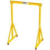 "3 Ton, Spanco, Portable, Steel Gantry Crane, 11'-6"" Span,  Adjustable Height 6'-2"" min. 9'-10"" max."