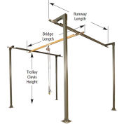 1/4 Ton, Spanco, Bridge Crane, 8' Bridge Length, 8' Runway Length, 12' Ht, 4 Col., No Header Req