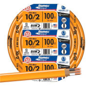 Southwire 28829023 Romex SIMpull ® Cable With Ground, Orange, 10/2 Awg, 100 Ft - Pkg Qty 5