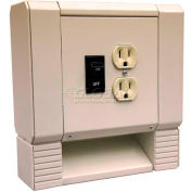 Berko® Institutional Convector 2 Pole Disconnect Switch And 120V Receptacle HBBDSDR120