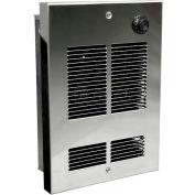 Berko® Shallow Wall/Ceiling Fan Forced Zonal Heater SED1012C, 120V, 1000W, Stainless Steel