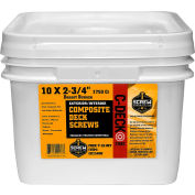 """#10 C-Deck Star Drive CD234FT Coated Composite Deck Screw, 2-3/4"""", Flint, 1750/Carton - Made In USA"""