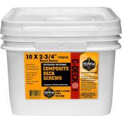 "#10 C-Deck Star Drive CD234TTC Coated Composite Deck Screw, 2-3/4"", Cedar, 1750/Carton - Made In USA"