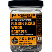 "#7 Bronze Star FSC7158W-5 Finish Head Star Drive Screws 1-5/8""L, 5lb. Carton - Made In USA"