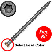 """10 x 2-3/4"""" C-Deck Composite 305 Stainless Steel Star Drive Deck Screws - Fire Pit - Pkg of 1750"""