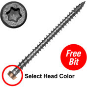 """10 x 2-3/4"""" C-Deck Composite 305 Stainless Steel Star Drive Deck Screws - Tree House - Pkg of 1750"""