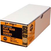 "#14 Gold Star YTX-14700-1 Extra Long Star Drive Wood Screws, 7""L, 1lb. Carton - Made In USA"